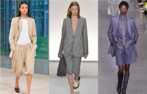 Women Clothing Styles - Business Bermuda Suit