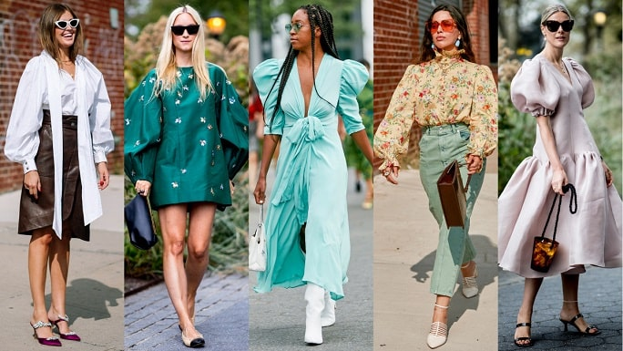 Women Clothing Styles - Puffy Sleeves